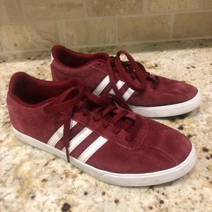 Adidas Courtset Sneakers Suede Burgundy 8.5